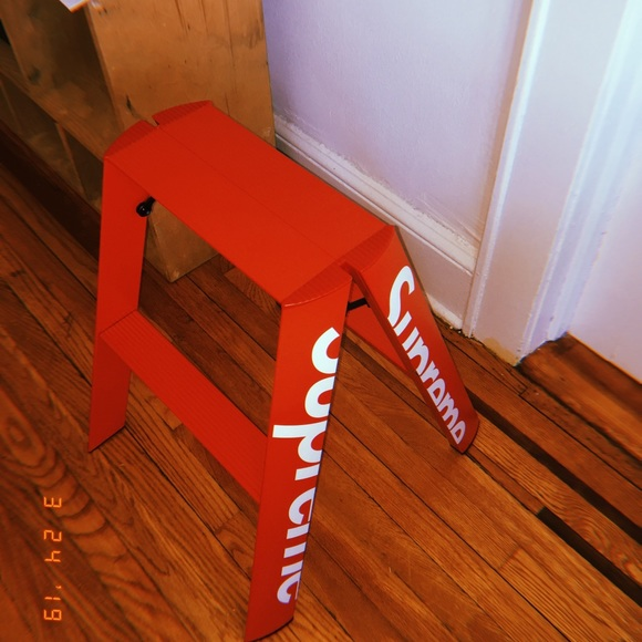 Strange Authentic Supreme X Lucano Step Ladder Caraccident5 Cool Chair Designs And Ideas Caraccident5Info